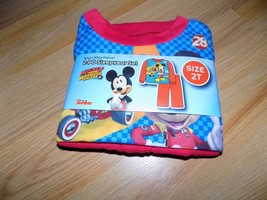 Toddler Size 2T Disney Mickey Mouse Roadster Racers 2 Piece Flannel Paja... - $12.00