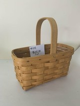 "1999 Longaberger Basket 9"" x 5 x 9"" h to top of handle - $15.00"