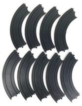 """TYCO B5831 LOT of 9 Each Slot Car HO Scale 9"""" R 1/4 Circle Track EUC (M) - $9.79"""