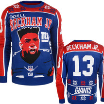 NFL Klew New York Giants Odell Beckham Jr. #13 Player Ugly Sweater - $34.95