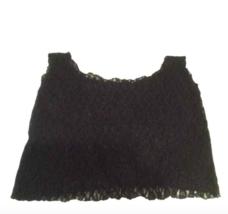 VTG 80s BLACK LACE LOOSE FIT CROP TOP - $10.00