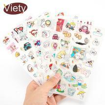 6 pcs/lot Lovely Cute animal rabbit PVC paper sticker diy decoration sti... - $9.03