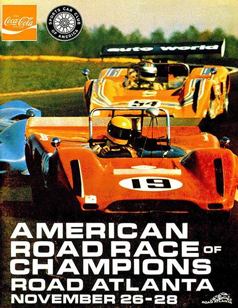 Primary image for 1969 SCCA American Roadrace Of Champions - Road Atlanta - Promotional Poster