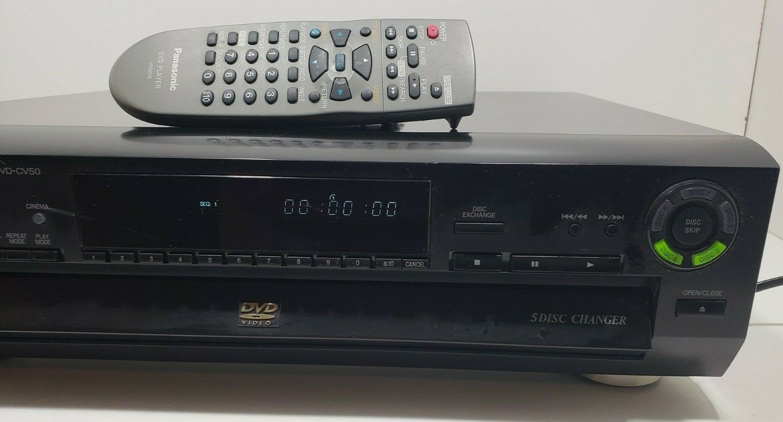 Panasonic DVD-CV50 DVD/Video CD/CD Player 5 Disc Changer with Remote image 3