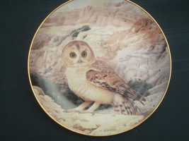 HUME'S TAWNY OWL collector plate DESERT LORD Trevor Boyer OWLS Danbury Mint - $19.95