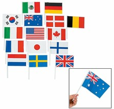 Flags of All Nations, International Flags - 72 flags for Party Decorations, - $9.49