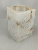 Plastic Brown Faux Marble Design Bathroom Pop Up Cup Dispenser - $11.81