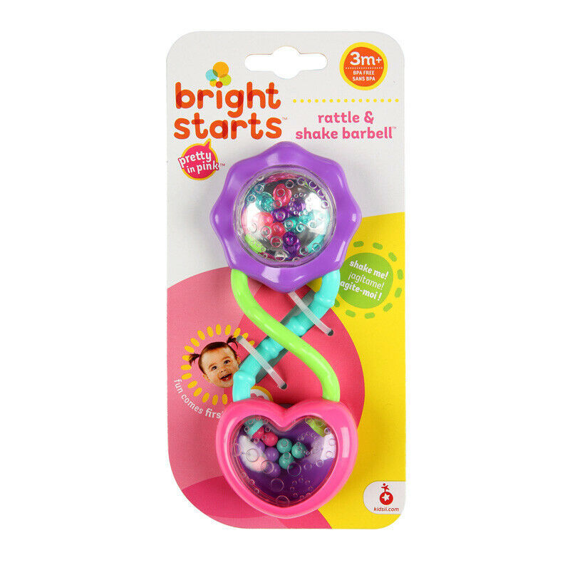 Primary image for Bright Starts Pretty in Pink Barbell Rattle