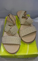 Easy Spirit e360 Women's Talini Sandals Gold Woven Fabric Size 8 - $28.05
