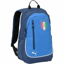 Puma Italia Italy Shield Soccer Gym School Tablet Laptop Backpack, Blue - $39.68