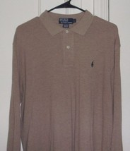 Polo By Ralph Lauren Mens Large 100% Cotton Embroidered Long Sleeve Polo... - $17.96