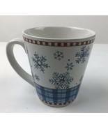 Debbie  Mumn By Sakura Blue Winter Snowflake Coffee Mug - $7.70