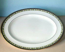 "Gorham Grand Tapestry Serving Platter 14"" Oval Gold Trim New - $56.90"