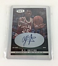 A.J. Guyton Autograph Card IU Indiana University Basketball Hoosiers 25 ... - $14.80