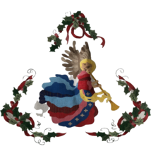Needlepoint Canvas Christmas Holly Angel Holiday Decoration Crafts  - $69.29