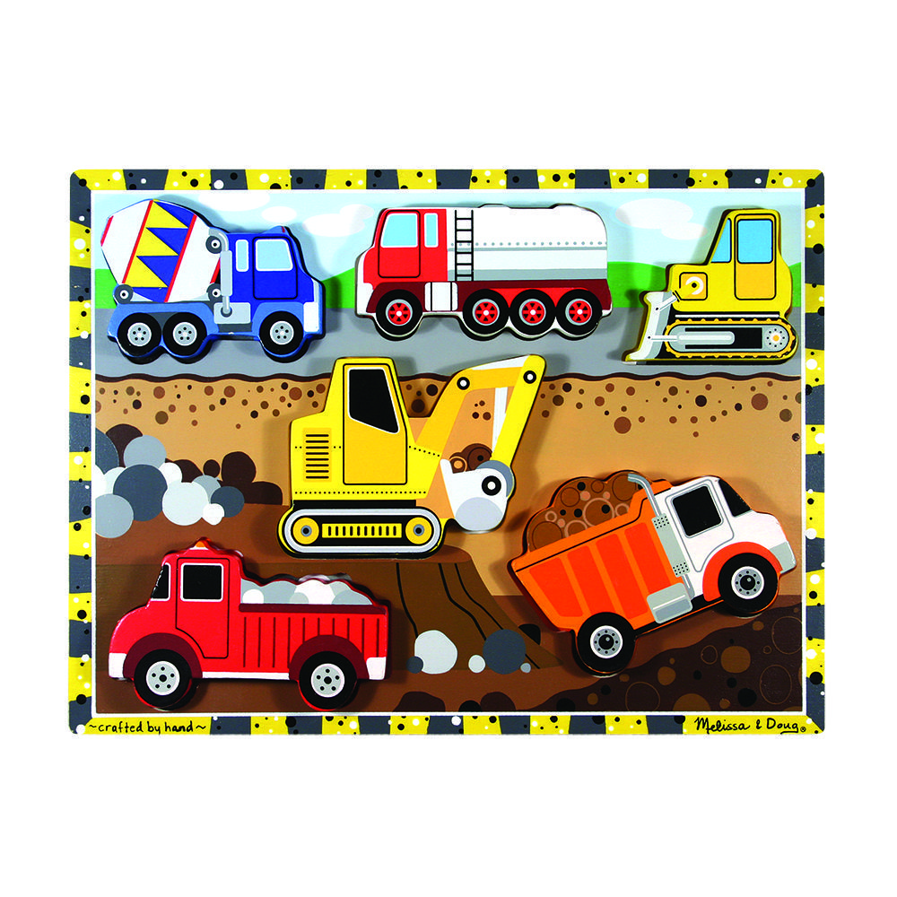 Wooden Construction Chunky Puzzle by Melissa and Doug