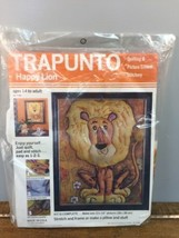 Trapunto 3D Happy Lion Quilting Crewel Stitchery Kit Lion Vintage Stitch... - $14.80