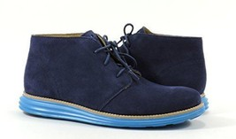 NEW COLE HAAN LUNARGRAND CHUKKA BOOT NAVY SUEDE SIZE 7M MSRP $280.00 - $143.07