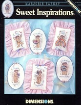 Sweet Inspirations Bears Dimensions Cross Stitch Pattern Booklet NEW - $2.67