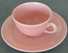 Beautiful Early California Peach Flat Cup & Saucer - Authentic Vernonwar... - $19.79