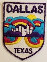 "Vintage Dallas Texas Souvenir Embroidered Patch 2-3/4"" x 3"" - $3.95"