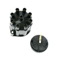 8-Cylinder Female Pro Series Distributor Cap & Rotor Kit (Black)