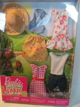 Barbie Sweet Orchard Farm Doll Clothes, New in Package 4 Outfits  - $16.82