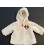 Disney. Baby Girl Clothes, SZ 3-6 MO, Minnie Lined White Faux Fur Coat - $17.00