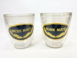 Vintage Tervis Tumbler Drinking Glasses Nautical Themed Mess & Bunk Mate  - $17.81