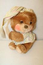 VTG Fisher-Price 1985 Teddy Beddy Bear Quaker Oats Plush Bedtime Pajama ... - $24.95