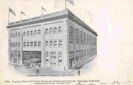 Muskogee Market Square Convention Hall Oklahoma 1907 postcard - $6.93