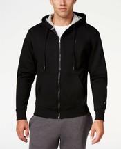 Champion Men's Powerblend Fleece Full-Zip Hoodie Black Fleece Jacket XL NWT - $28.99