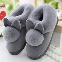 Rabbit Ears Winter Slippers Cute Indoor Slipper Soft Bunny Home Shoes Fo... - £23.43 GBP