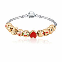 Emoji Charm Bracelet with 10 Gold Plated Charms - 1x w/Random Color and Design image 5