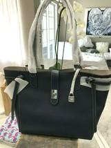 Michael Kors Cassie Large Shoulder Tote Pebbled Leather Navy Blue - $89.08