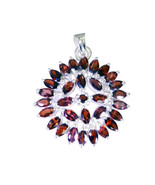 supplies 925 Sterling Silver grand genuine Red Pendant UK gift - $42.99