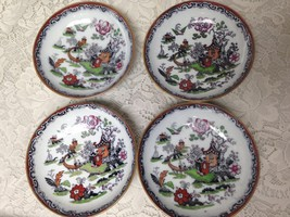 Antique, Chili, HL & Co. England 4pc Gaudy Blue Willow Chili or Dessert ... - $85.45
