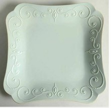 Individual Square Dinner Plate French Perle Ice Blue Green by LENOX Widt... - $14.01