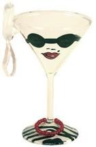 Lolita MINI Almost Famous Martini ORNAMENT Glass Retired New in Box - $30.43
