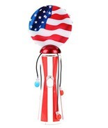 blinkee Light UP Novelties USA Flag Patriotic Spinning Ball Wand for the... - $15.11