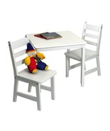 Lipper International 514W Child's Square Table and 2 Chairs, White - $160.88