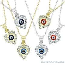 Evil Eye Turkish Nazar Greek Mati Charm Hamsa Kabbalah Pendant Necklace 14k Gold - $119.99