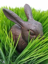 Lucky Rabbit Figurine Cast Iron Decorative Statue | Great for use as a P... - $18.05