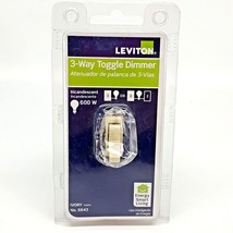 Leviton 6643 Toggle Dimmer Incandescent Bulbs Only Ivory Energy Smart Li... - $9.89