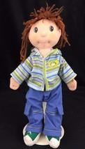 Rag Doll  Zapf Creations Maggie Raggies Baby 12 Inch Ball Cap Hoodie Bro... - $16.78