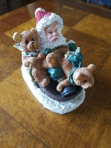 K's Collection Santa With Bears Figurines - $9.73