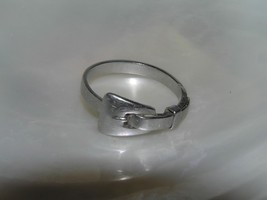 Antique  Carved Silver Belt Buckle Band Ring Size 8.5 – no markings for ... - $24.20