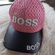 I'm the Boss Cap Hat Pink Leather A1 - ₹1,066.00 INR