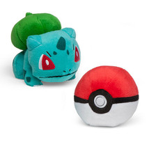 Pokemon Bulbasaur and Poke Ball Plush Gamestop Tomy Boxed Set - $19.16