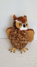 "13"" Plush Wild Republic Realistic Great Horned Owl Bird Of Prey, Soft, No Tags - $9.89"